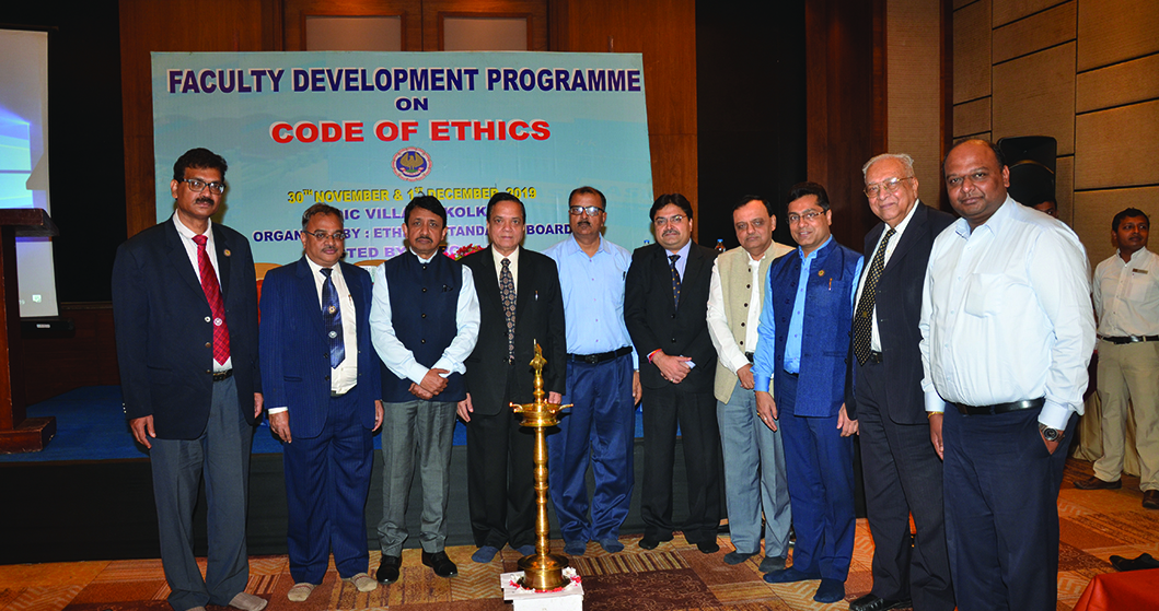 <span>Ethical Standards Board</span> recently conducted the <span>Faculty Development Programme</span> on Code of Ethics in Kolkata on <span><b>30th November & 1st December, 2019</b></span>